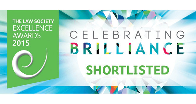 Giles Wilson Shortlisted for 5 Law Society Excellence Awards