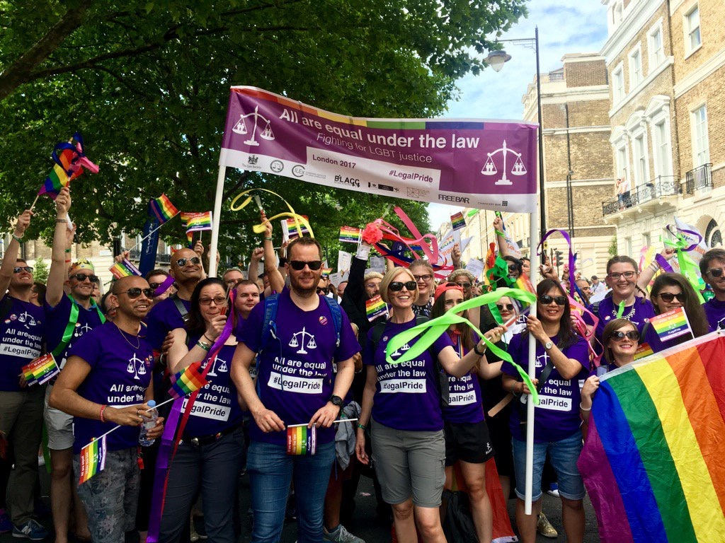 Team Giles Wilson at Pride in London 2017